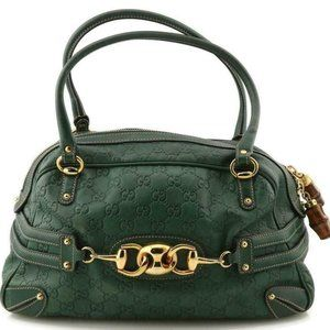 Gucci Boston Bag Guccissima Wave Green Leather